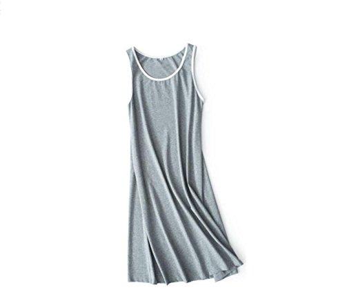 GSHGA Frauen Westerock Einfarbig Stricken Pyjamas Cotton Hause Rock Sportteil Frühling Und Sommer,Grey-OneSize (Pyjama Stricken Grau)