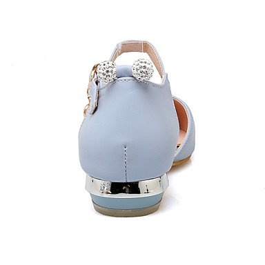Talloni delle donne Primavera Estate Autunno Inverno Dress Altro PU ufficio & carriera Party & Sera tacco basso fibbia Blu Rosa Bianco Blue
