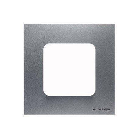 Niessen - n2271pl marco estandar 2 modulos zenit plata Ref. 6522015251