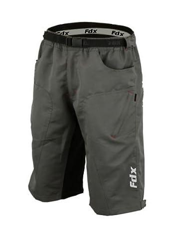 FDX Radfahr-Shorts für Mountainbike und Geländefahrten, Innenfutter, antibakteriell, gepolstert