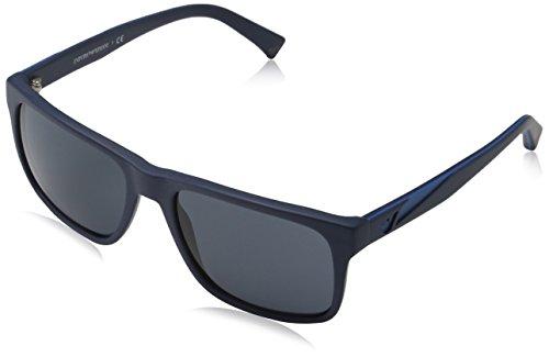 Emporio Armani Unisex Sonnenbrille EA4071, Blau (Matte Blue 550487), Large (Herstellergröße: 56)