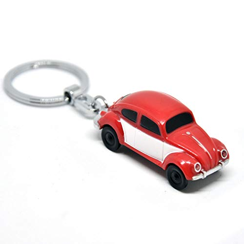trendaffe VW Käfer LED Schlüsselanhänger in rot - Schlüsselring Schlüssel Ring