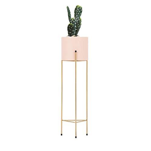LIYANHJ Metallpflanzstand mit Blumentopf, Eisen-Blumentopf-Topf-Blumentopf für Garten Heimtabelle Büro Dekor Indoor