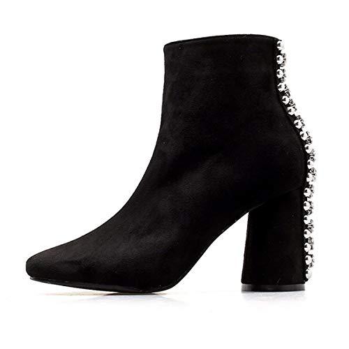 AJUNR Transpirable Zapatos Mujer Martin Botas Alto