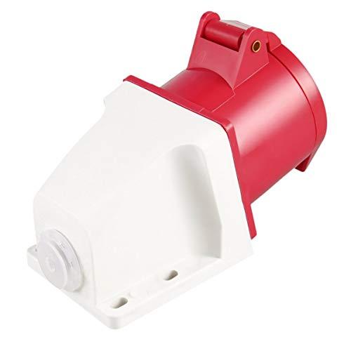 Preisvergleich Produktbild Roter 415V 32 Ampere 5pin industrieller Stecker u. Wandsteckdose imprägniern IP44 Stecker-Verbindungsstück-Einfaßung 3 Phase 3P + Erde + Neutral Mann / Frau