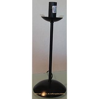 Alles vom Strauß UG (haftungsbeschränkt) Straußenei-Lampenständer - Höhe 26 cm - Metall - Schwarz
