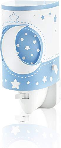Ein Stern-wandleuchte (Dalber Moon Light Nachtlicht, Kunststoff, E14, Blau)