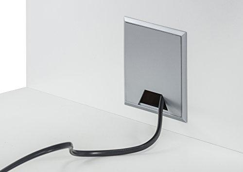 MAJA Raumteiler Wandregal Cableboard 6022 in Weiß 220x186x40cm Bücherregal Wohnwand - 5