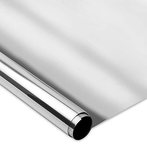 Homein Vinilo Ventana Cristal Upgrade Protector Solar Lámina Privacidad de Una Manera Espejo Anti 99% UV 90 * 200cm