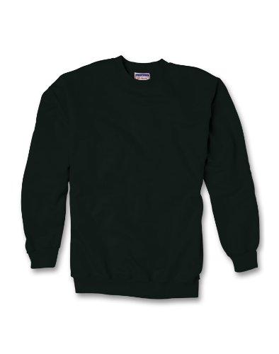 90/10 Baumwolle / Poly 10 Unzen Ultimate Crew Sweatshirt in Schwarz - Gro? (Hanes Sweatshirt Schwarz Crew)