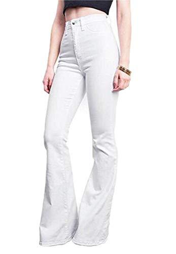 Keephen KH - 60er Jahre 70er Jahre - Distressed Denim - Flares - Fade Wide Flared Jeans - Blue Geschnittene Denimjeans für Damen - Miss Me Distressed Jeans