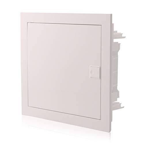 Sicherungskasten Unterputz 1-reihig für 12 Module IP40 mit weißer Tür
