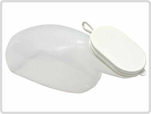 Urinflasche für Frauen aus Kunststoff, mit Deckel