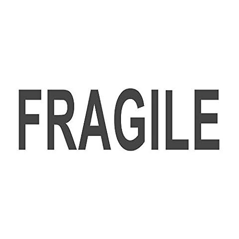 Fragile voreingefärbter, Office Gummi Stempel (# 760607-a), Stil A Large size (58 x 18mm) rot