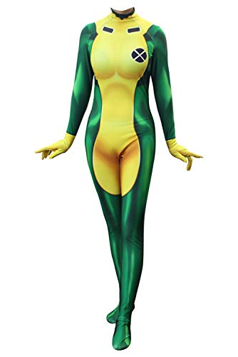 RedJade Anna Marie X-Men Rogue Jumpsuit Bodysuit Cosplay Kostüm Damen M