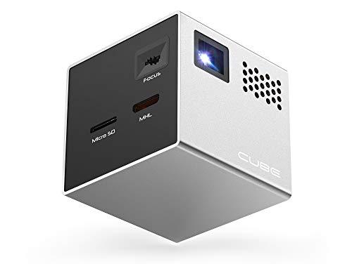 Mini proyector portátil RIF6 Cube Gris