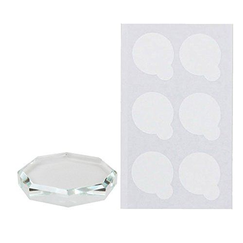 Vococal Plaque Transparent pour Porte Colle Support Extension de Cils Adhésive Pad