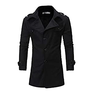 VRTUR Herren Warm Mantel Winter Outwear Schlank Passen Graben Jacke Langarm Wintermantel Parka Jacke Steppjacke Oberteile Oben