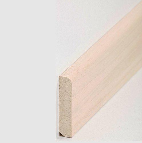 Abschluss /& Verbindungsst/ück Eckst/äbe f/ür Sockelleisten Fu/ßbodenleisten Eck-Stab silber-metallig Edelstahl-look 4 St/ück| Eckst/ück oder Endst/ück passend zu MDF-Leisten bis 60-mm