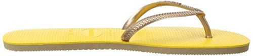 Havaianas Flat Up, Tongs Femme Jaune - Banana Yellow