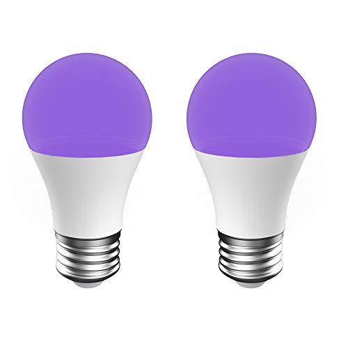 Onforu 2er UV Schwarzlicht Glühbirne, UV Lampe 7W Schwarzlicht Birne E27 Black Light Bulb, UV Leuchtmittel für Club, Party, Partykeller, Partyraum, Bar, Barschrank, MiNi Golf