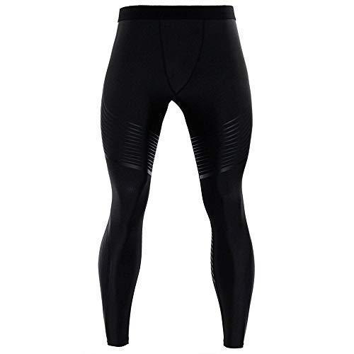 Gusspower Pantalones de Compresión Mallas Hombre Secado Rápido Transpirable Leggings Alta Elasticidad para Running, Yoga,Fitness (Gris 2, M)