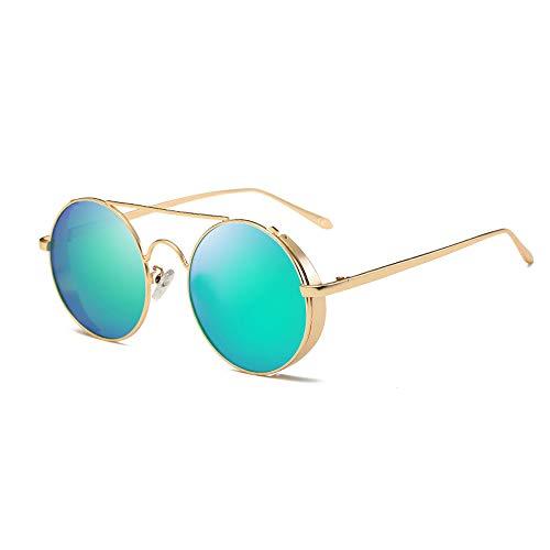 AMZTM Espejo Gafas de Sol Retro Polarizadas para Mujer y Hombre, Vintage  Redondo Marco Lennon 9bec467c15