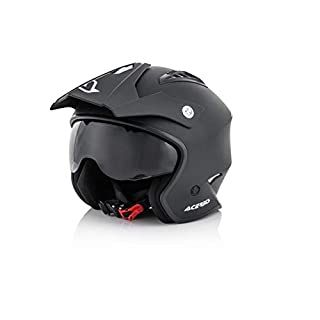 Acerbis 0022569.091.066 All Use Street Helmet, Black, Large