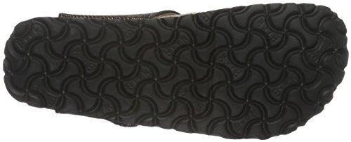 Birkenstock Damen Gizeh Textil Zehentrenner Schwarz (Metallic Knit Black)