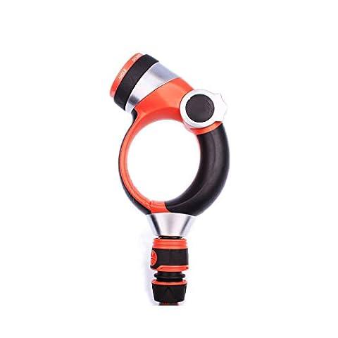 Tolako Gartenschlauch Düse Handsprühdüse - 7 verstellbares Modell Pistolengriff vorne Trigger Wasserdüse mit Anschluss - Hochdruck für Bewässerungsanlagen, Autowäsche und Duschen Haustiere(7 Muster)