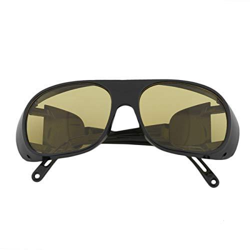 Elviray Hombres Mujeres Visión Nocturna Gafas de Conducción Gafas de Seguridad Gafas Antirreflejo Gafas Anti Viento Gafas Espejo de Soldadura Anti Impacto
