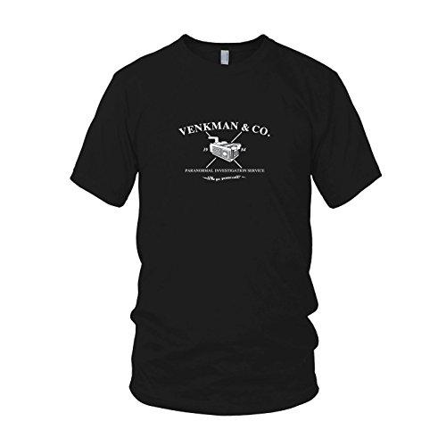 Venkman - Herren T-Shirt, Größe: L, Farbe: schwarz (Ghostbusters Venkman Kostüm)