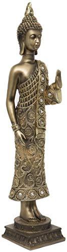 Maturi - Buda Grande con Detalles de Diamante, 58 cm, Color Dorado