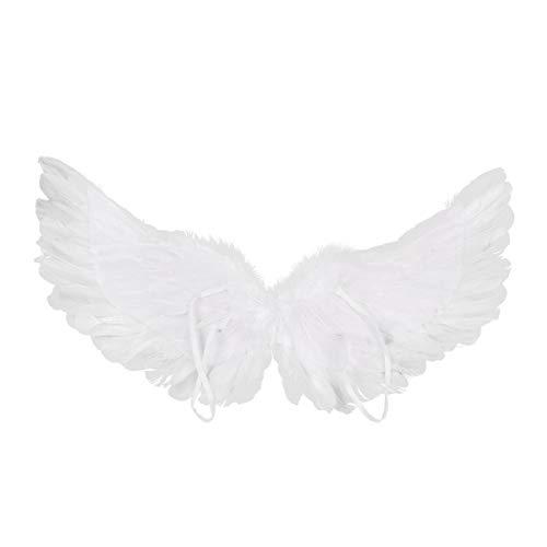 dPois Engelsflügel Engel Flügel Spielzeug Fee Flügel Engelkostüm Federflügel Fallen Angel Zubehör Dekoration Cosplay Halloween Fasching Karneval Weiß A 80x40cm (Fallen Angel Wings Kostüm)