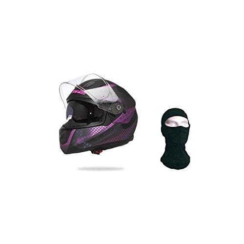 LS2 103202246S Casco da moto, Nero/Rosa, S