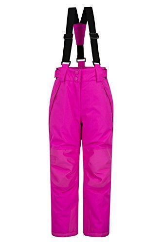 Mountain Warehouse Falcon Extreme Skihose für Kinder - Winterhose, Schneehose, wasserfeste Kinderhose, Schneegamaschen, Sicherheitstaschen- Für Skiurlaub leuchtendes Pink 116 (5-6 Jahre) (Mädchen Ski Hose 6)
