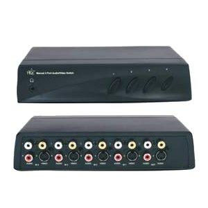 HQ manueller 4-fach Audio/Video Umschalter, AV210 (Video Umschalter)