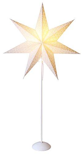 "Star Standleuchte Stern\""Dot Star on base\""Material Metall/Papier, Vierfarb-Karton, 95 x 53 cm, weiß 234-56"
