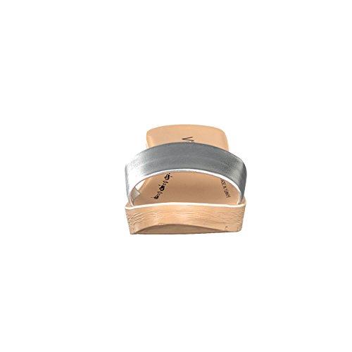 Argento Nero Il Con Sandalo Di Tinta Da Nome 41 36 Taglie Colori Donna Unita Sandalo Metallizzata wqttPgZ