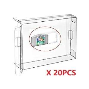 WICAREYO 20PCS Schutzhülle Hülle Plastikkasten für N64 Patronen Schutz Archiv Fall Hülsen