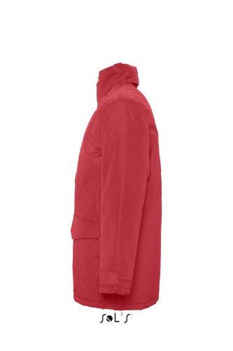 Sols - Unisex Parka 'Record' mit Fleece gefüttert Red/Red