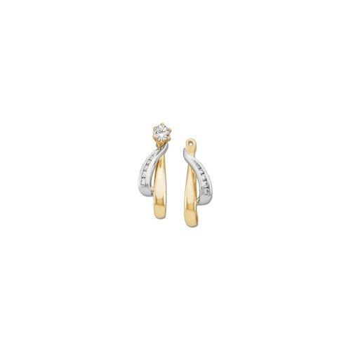 white-and-yellow-gold Diamant Ohrring Jacken Modell 5kqozx7