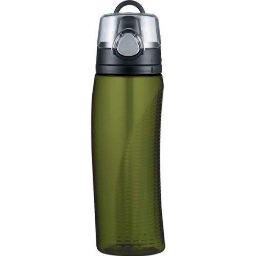 Thermos Wasserflasche aus Eastman-Tritan-Copolyester, mit Trinkhalm, 530ml olivgrün