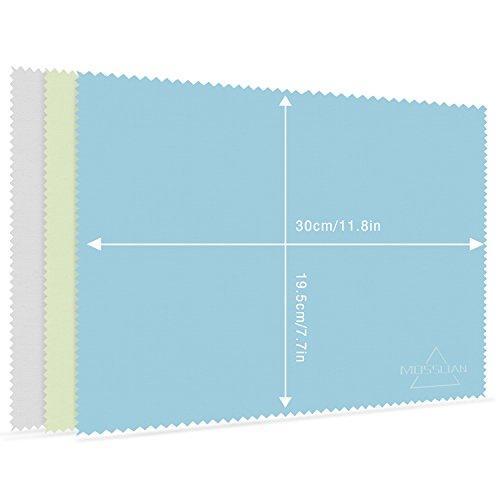 """MOSSLIAN Brillenputztuch Mikrofaser Reinigungstücher Mikrofasertüch Ideal für die Reinigung von Gläsern, Brille, iPad, Tablets, Notebook (3 Packs) (13\"""" Screen)"""