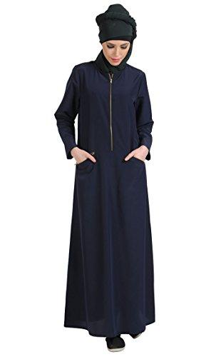 East Essence - Robe - Solid - Femme Bleu - Sea Fog