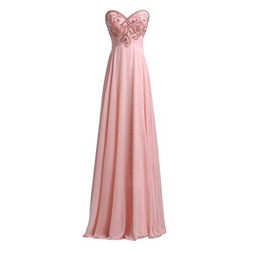 Stomacher Big Trailer Hochzeit Brautjungfer Kleid ein Toast Kleid Dame Sleeveless Prom Kleid Brautkleid , pink 1 , (Womens St Kleidung Patricks Tag)