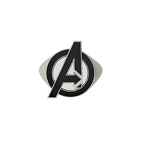 Wellgift Endgame Ring Superheld Cosplay Erwachsene Silber Ringe Halloween Zink Legierung Film Verkleiden Kostüm Kleidung Zubehör für Sammlung & Geschenk