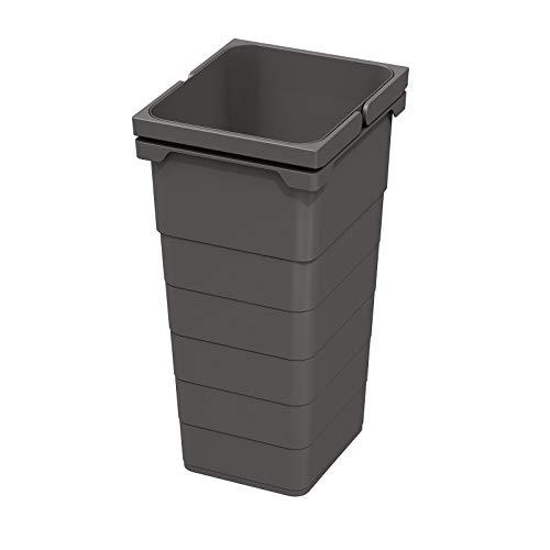 Ninka eins2vier Abfallsammler Höhe: 330 mm Volumen: 11,5 Liter 229 x 205 mm dunkelgrau Recycling Behälter Abfall von SO-TECH®