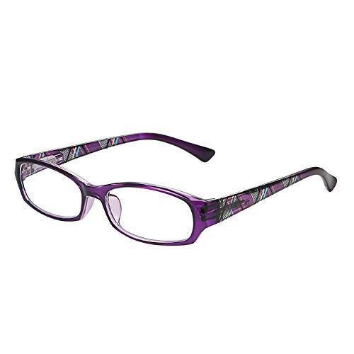 Aroncent Dioptrien 1.00-3.50 Sonnenbrille für Damen Anti-Licht, Anti-Ermüdung Ultraleicht, tragbar, robust violett, Dioptrien Diottria 2.50