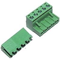 Sourcingmap Schrauben-Set, 5-polig, rechtwinklig, 5,08 mm, weiblich, PCB, CNC, Grün